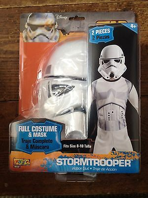 Star Wars Stormtrooper MASK AND COSTUME Size 8-10