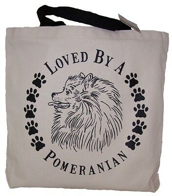 Loved By A Pomeranian Tote Bag New  MADE IN USA