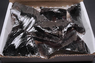 Obsidian Collection 1 Lb Midnight & Lace Smoky & Clear Natural Volcanic Glass