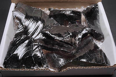 Obsidian Midnight Lace Collection 1 Lb Natural Black Banded Volcanic Glass