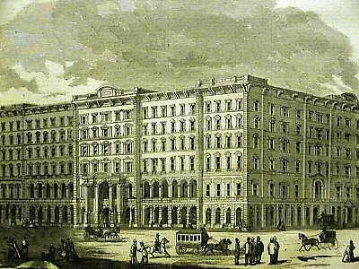 LINDELL HOTEL ST. LOUIS MISSOURI 1864 Antique Art Print Matted
