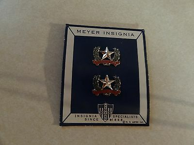 Military Insignia Crest Duis Set Of 2 Dominican Republic 1 Star Meyer