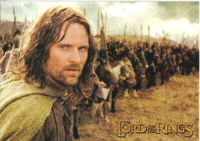 The Lord of the Rings Aragorn & Army Photo Image Postcard, 2004 NEW UNUSED