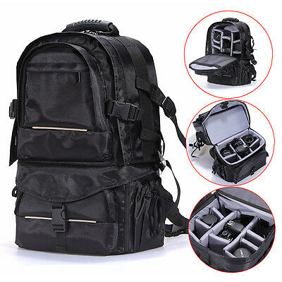 Deluxe Travel Camera Bag Case Backpack for DSLR Canon Nikon Sony Multifunctional