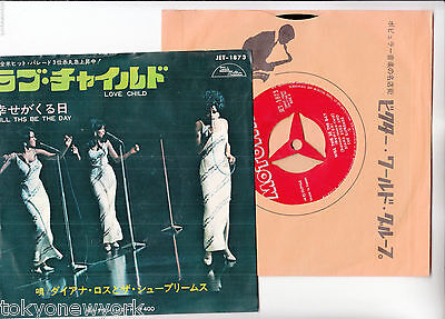 "DIANA ROSS AND THE SUPREMES 7"" PS Japan LOVE CHILD s5702"