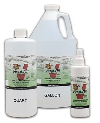 Crystaltek Reflective Vinyl-Off Quart Remove Vinyl Safely Signage Graphics