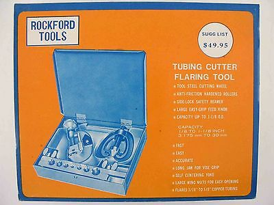 Rockford Tools Tubing Cutter Flaring Tool 1/8 to 1-1/8 #5n4