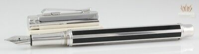 Caran D'ache Varius Chinese Lacquer Black With Silver Plated Fountain Pen Good!!