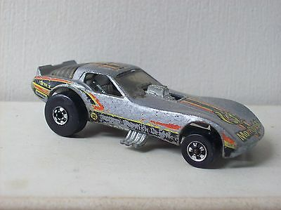 (D)HOT WHEELS CORVETTE MONGOOSE FUNNY CAR ENGLISH LEATHER SILVER