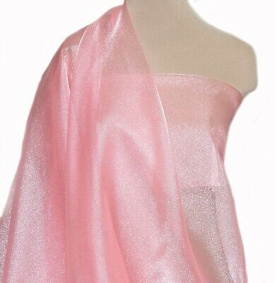 """SPARKLE ORGANZA FABRIC SHEER PURPLE PANSY  45/"""" BTY FORMAL  PAGEANT SKIRTS"""