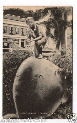 PLYMOUTH NH Boy Scout Monument 1937 POSTCARD Boy Scouts of America NEW HAMPSHIRE