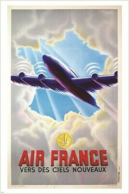 FRENCH TRAVEL POSTER vintage ONE-OF-A-KIND home decor gem COLLECTORS 24X36