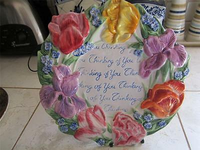 """NEW WITH STICKER  FITZ AND FLOYD SPRING BOUQUET """" THINKING OF YOU""""  PLATE"""