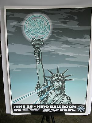 2007 Ryan Adams New York NY Hiro Ballroom Statue Liberty Concert Poster June 26