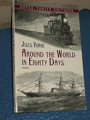 Around the World in 80 Days by Jules Verne *COMBINE SHIP 10 PB $5.75* 0486411117
