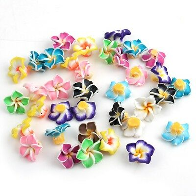 FOR PENDANT&BRACELET Mixed Color Fashion FLOWER BEADS Fimo polymer Clay New 15MM