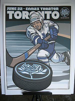 2007 Ryan Adams Toronto Enmax Theater Tour Concert Hockey Poster June 22 Holder