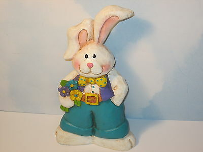"""Easter Bunny Rabbit with Spring Flowers 9"""""""
