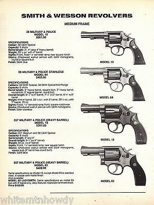 1994 SMITH & WESSON Model 10, 64, 13, 65 Military & Police Revolver Ad