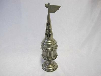 Judaica Antique Silver Plated Besamim Havdala Spice Tower Continental C 1900 Y