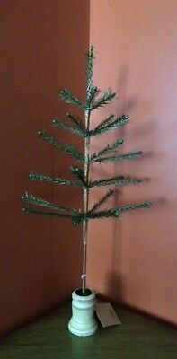 """NEW!~Vintage Green Feather Tree 22""""~Primitive/Country~Christmas/Easter/Victorian"""
