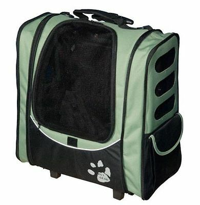 Pet Gear I-GO2 Escort Roller Backpack for cats and dogs, Sage