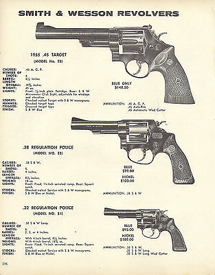 1973 SMITH & WESSON Model 25, 33 & 31 Regulation Police REVOLVER AD