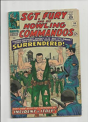 """Vintage 1966 Marvel Comic Book """"SGT. Fury and His Howling Commandos"""" #30"""