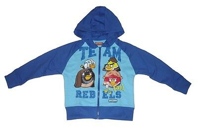 Boys Jacket Hoody Zip Up Official Angry Birds 3-10 Years Old