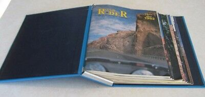 ( 9 ) Issues 1982 Road Rider Motorcycle Magazine **With Hard Cover Binder**
