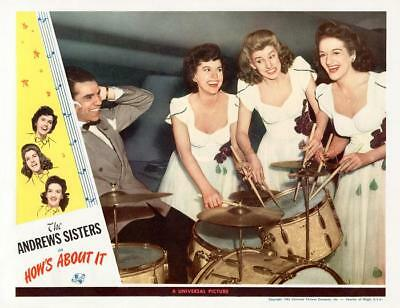 BUDDY RICH & THE ANDREWS SISTERS * HOW'S ABOUT IT * 11x14 LC print * 1943