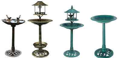 Traditional Garden Bird Bath Feeding Station Food Feeder Ornamental Item Choice.