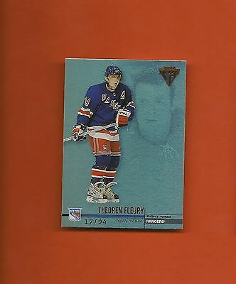 THEOREN FLEURY - 2001-02 Private Stock Titanium Hobby Red #d/94 - Rangers