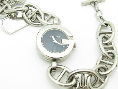 8b65dca48f6 Pre-Owned Gucci Ladies Authentic Charm Bracelet Toggle Lock Complete Watch  Gift