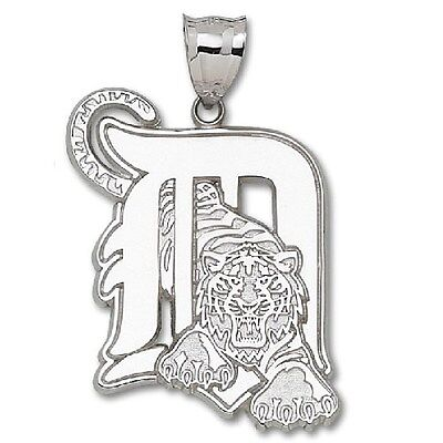 Sterling Silver Giant Detroit Tigers Initial MLB Charm TIG004SS