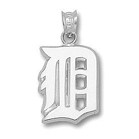 Sterling Silver Large Detroit Tigers Initial MLB Charm TIG001SS