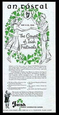 1956 An Tostal Ireland the Gayest of Irish Festivals vintage print ad
