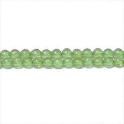 Strand Of 200+ Green Peridot 1.5mm Plain Round Beads CB31344-1