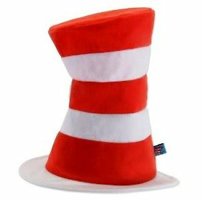 Dr Seuss Cat In The Hat Adult Costume Hat Red White Striped Stove Pipe Hat 009fb4f1d0a8