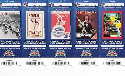 2014 Chicago Cubs Pick Your Game Soler Baez 100 Anniversary Ticket Stub 1St Half