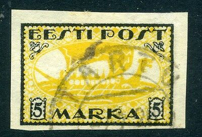 ESTONIA;  1919 early second issue Imperf, fine used value  5M.