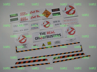 Kenner The Real Ghostbusters Ecto 1 Replacement Stickers - B2G1F