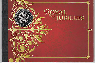 2013 Royal Jubilees Booklet inc. Unc 50c. 60th Anniv of the Coronation of QEII
