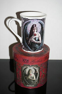 Anne Stokes Coffee Mug Cup bone China Goth Fairy Fantasy Art  Angel Rose Gothic