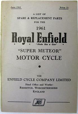 ROYAL ENFIELD Super Meteor - Motorcycle Owners Parts List - 1961 - #780/2M-661