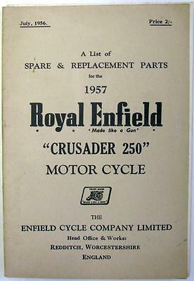 ROYAL ENFIELD Crusader 250 - Motorcycle Owners Parts List - 1956 - #555/1½M-756