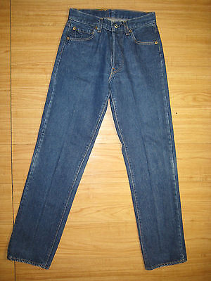 7760 Levi's blue transitional 501 jeans 29x34  made in the U.S.A early 80's