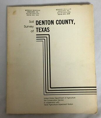 Soil Survey of Denton County Texas Department of Agriculture Fold Out Maps