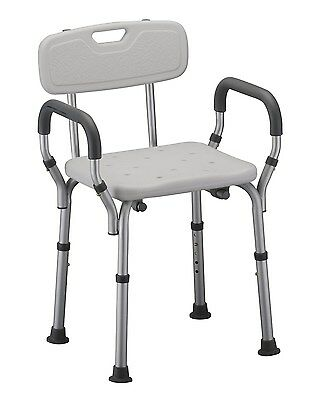 Bath Seat with Back and Arms Chair Medical Adult Shower Waterproof Home Bathroom