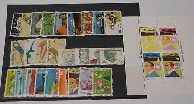 1976 Australian stamp set. Complete simplified, Mint Unhinged.